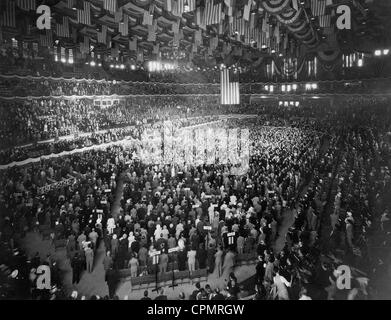 Party Congress of the Republican Party in the Chicago Stadium, 1932 - Stock Photo