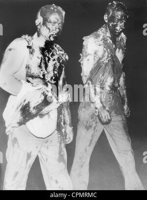 Tarred and feathered Communists in Santa Rosa, 1935 - Stock Photo
