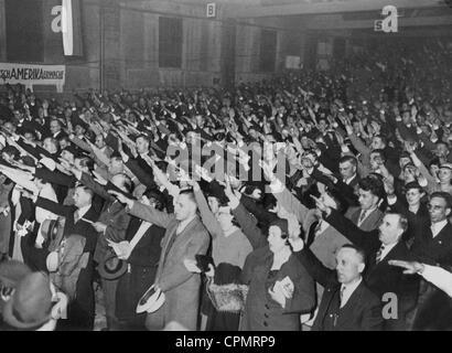 Gathering of the German-American organisation of Nazi-sympathisers, DAWA (Deutsch-amerikanischer Wirtschaftsausschuss), - Stock Photo