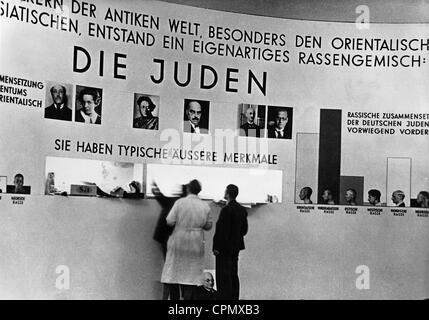 Exhibit from the racist propaganda exhibition 'The Eternal Jew' in the Congress Hall of the Deutsches Museum, Munich, - Stock Photo