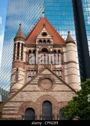 Trinity Church in the City of Boston - Stock Photo