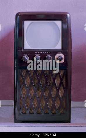 broadcast, television, television set, Admiral 20X122, with 10 inch screen size, chassis: bakelite, USA, 1950, television - Stock Photo