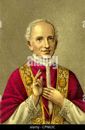 Leo XIII (Vincenz Gioacchino Count Pecci), 2.3.1810 - 20.6.1903, Pope 20.2.1878 - 20.6.1903, co-founder of the Catholic - Stock Photo