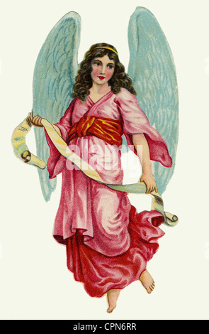 kitsch, angel, scrap-picture, lithograph, Germany, circa 1926, Additional-Rights-Clearences-NA - Stock Photo