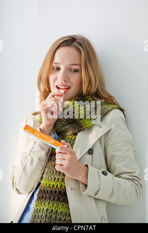 WOMAN, VITAMINS - Stock Photo