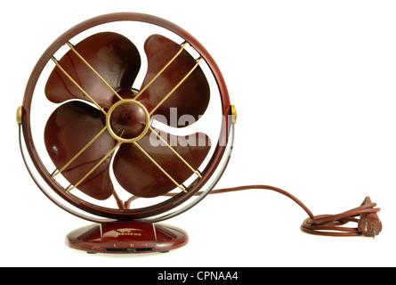 technics ventilator table fan germany circa 1929 red metal stock photo royalty free image. Black Bedroom Furniture Sets. Home Design Ideas