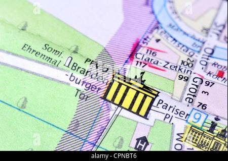 germany cartography city map berlin detail brandenburg gate pariser platz east