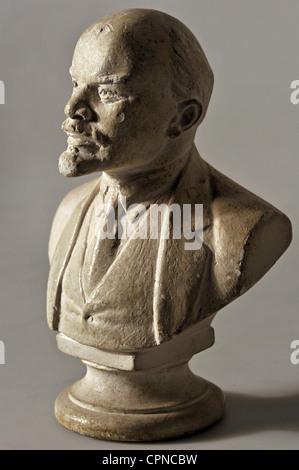 Lenin (Vladimir Ilyich), 22.4.1870 - 21.1.1924, Russian politician, portrait, bust, Soviet Union, circa 1960, Additional - Stock Photo