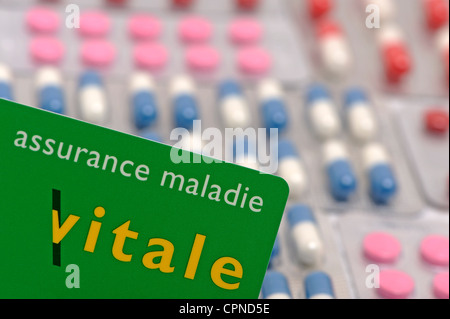 NAT'L HEALTH SERVICE CARD - Stock Photo