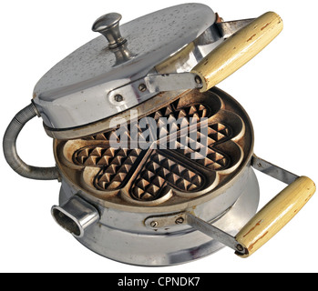 household, kitchen equipment, waffle iron, Germany, circa 1956, Additional-Rights-Clearences-NA - Stock Photo