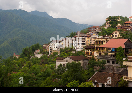 Early Morning Cloud in Sapa - Stock Photo