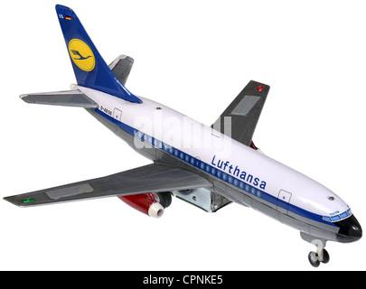 toys, model aircraft, Lufthansa, Boeing 737-100, producer: Modern Toys, Japan, circa 1969, model plane, model aircraft, - Stock Photo
