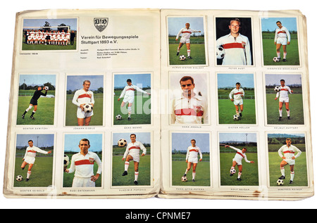 sports, football, team, VFB Stuttgart, Verein fuer Bewegungsspiele Stuttgart 1893 e.V., Bundesliga season 1965/66 - Stock Photo