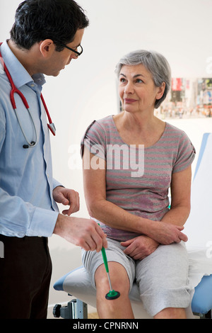REFLEX SYMPTOMATOLOGY ELDERLY P. - Stock Photo