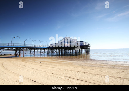 Cleethorpes Pier The Coast of Lincolnshire - Stock Photo