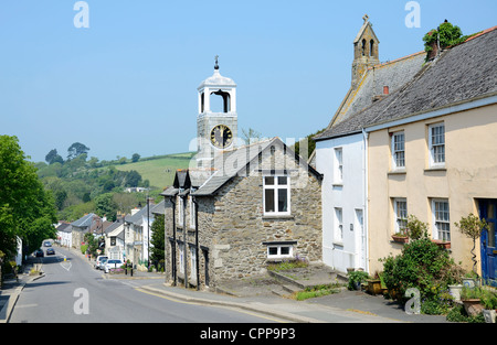 The Ancient township of Grampound in Cornwall, UK - Stock Photo