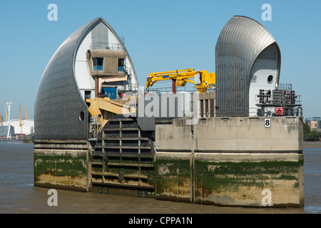 Thames Barrier, Woolwich, London, England. - Stock Photo