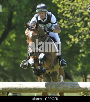 26.05.2012 Houghton Hall, England. Mark  Todd (NZL) and NZB CAMPINO in action during the Cross Country Phase of - Stock Photo