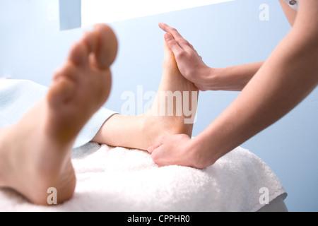 Thai Foot Massage - Stock Photo