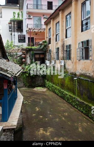 A street scene in Yangshuo China - Stock Photo