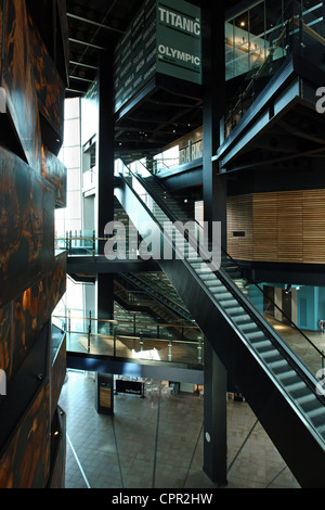 Main entrance hall of Titanic Belfast Signature Project - Stock Photo