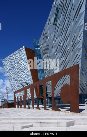 Exterior of Titanic Belfast Signature Project - Stock Photo