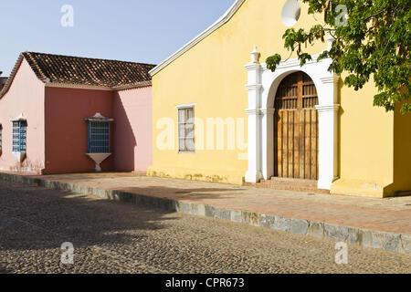 May 20, 2012 - Coro, Falcon, Venezuela - San Clemente Church (Iglesia de San Clemente), built in 1538. One of the - Stock Photo