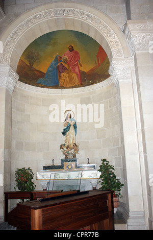 altar in St.Joseph's church Nazareth Israel - Stock Photo