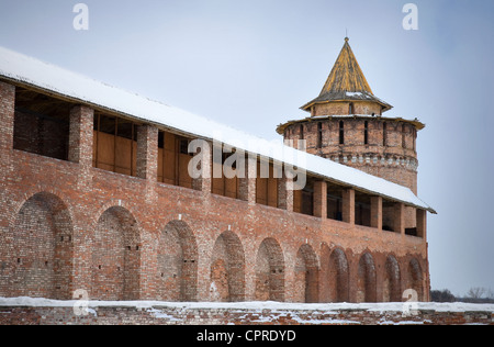 Old Kremlin. Fortress in town center of historical town Kolomna in Moscow Region, Russia. - Stock Photo