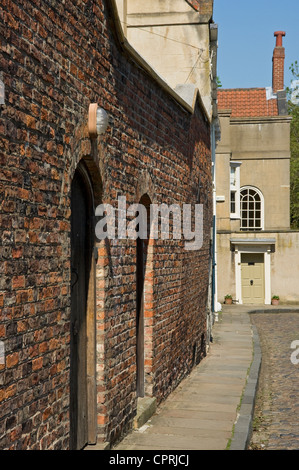 Looking towards the Old Rectory House from Chapter House Street in the city town centre York North Yorkshire England UK United Kingdom Great Britain