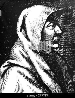 Muhammad, circa 570 - 8.6.632 AD, Arabian prophet, founder of the Islam, portrait, copper engraving, 17th century, - Stock Photo