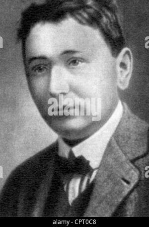 Hasek, Jaroslav, 30.4.1883 - 3.1.1923, Czech author / writer, portrait, print after photo, - Stock Photo