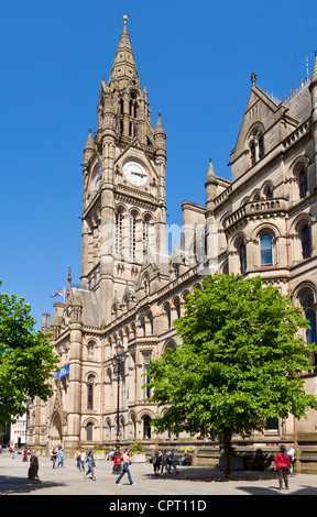 manchester town hall albert square Manchester city centre Greater Manchester England UK GB EU Europe - Stock Photo