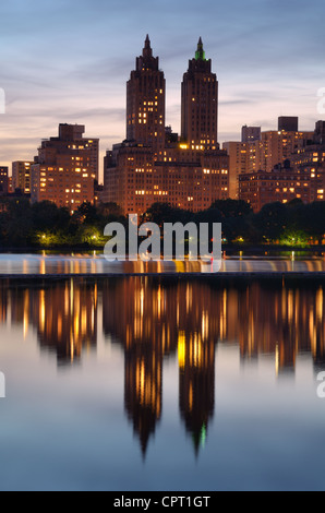 Central Park West Skyline in New York City - Stock Photo