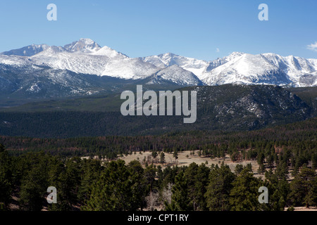 Rocky Mountain National Park Vista  - Estes Park, Colorado USA - Stock Photo