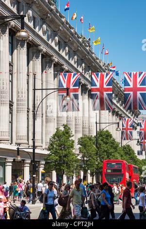 Selfridges department store, Oxford Street, London, England. - Stock Photo