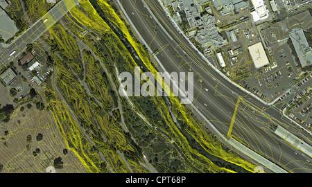 aerial photo map of San Jose California Stock Photo Royalty Free
