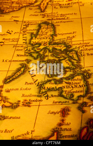 Old map of Philippines. Map is from 1799 and is out of copyright. - Stock Photo