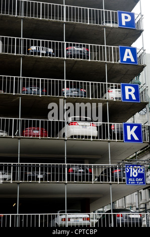 Parking garage or multi-storey car park, Downtown Vancouver, BC, Canada