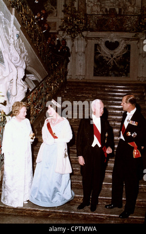 Elizabeth II, * 21.4.1926, Queen of the United Kingdom since 1952, state visit to Germany 1965, with Prince Philip, - Stock Photo