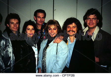 Genghis Khan (Dschinghis Khan), German pop group, group picture, early 1980s, Leslie Mandoki, Henriette Heichel, - Stock Photo