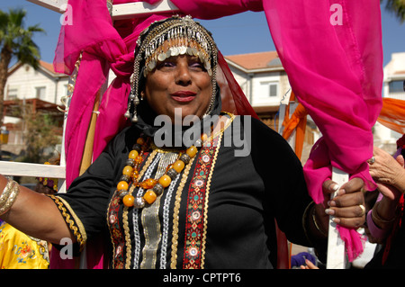 Purim festival 2012 in Eilat Israel - Stock Photo