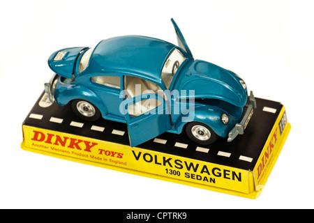 1960's vintage Dinky Toys No 129 Volkswagen Beetle 1300 Sedan diecast model car - Stock Photo