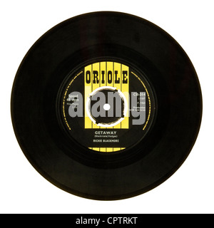 Mega rare 1965 Richie Blackmore (pre-Deep Purple) 7' UK single 'Getaway / Little Brown Jug' (Oriole Records CB-314) - Stock Photo