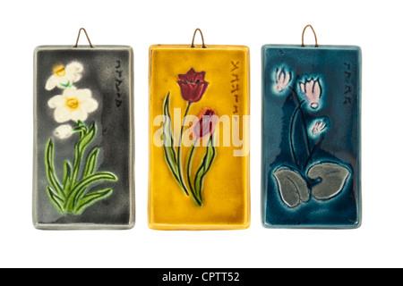 painted ceramic pottery plaque from Quito, Ecuador, South America ...