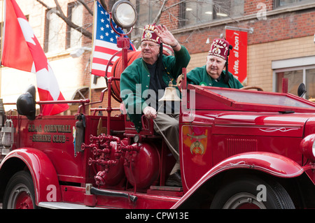 War World II Veterans, St Patrick's day parade Montreal - Stock Photo