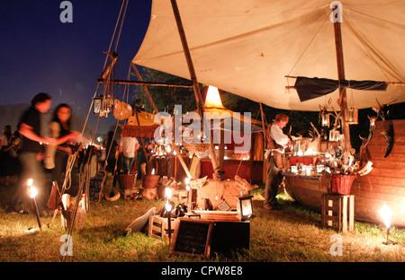 Medieval Festival Spectaculum in Germany, Weil am Rhein, Saturday, 02.06.2012 / Mittelalterlich Phantasie Spectaculum - Stock Photo
