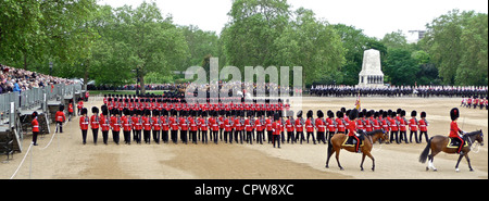 Trooping The Colour 2nd June 2012 - The Major General's Review at Horseguards Parade in London. - Stock Photo