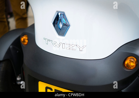 A Renault Twizy Electric Car. - Stock Photo