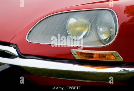 A vintage Citroen car on display at a summer fair held in Cornwall, England - Stock Photo